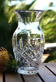 Large Waterford Crystal Vase Waterford Lismore Bouquet Vase