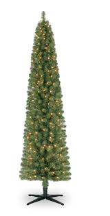ashland 7 ft pre lit green pencil artificial tree only