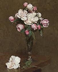 White Roses In A Vase Roses In Vase Paintings Fine Art America
