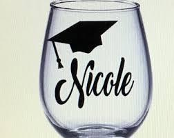 Graduation Wine Glasses Graduation Wine Etsy