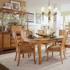 pier one round table remington natural round wood dining table