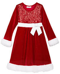 bonnie jean velvet santa dresses baby 0 24 months