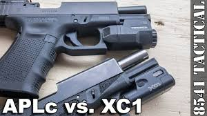 surefire light for glock 23 inforce aplc vs surefire xc1 comparison on glock 19 youtube
