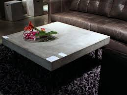 concrete coffee table with wooden element addition the new way