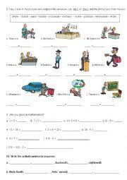 english worksheets cardinal and ordinal numbers worksheets page 4