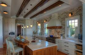 Brick Tile Backsplash Kitchen Yes You Can Use Brick In The Kitchen