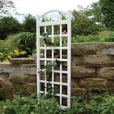 shop dura trel 28 in w x 76 in h white transitional garden trellis