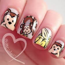 cdbnails nail art challenges monkeys and bananas