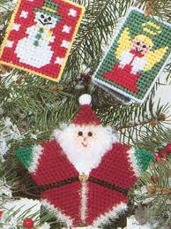 plastic canvas ornaments santa and friends ornaments