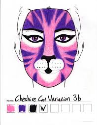 cheshire cat variation 3b makeup sketch u2014 weasyl