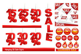 sales decoration icons vector graphics vectors
