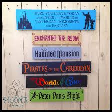 disney favorites custom wooden signs by a whole lotta hoopla www