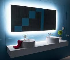 Led Backlit Bathroom Mirror Appealing Backlit Bathroom Mirror In Backlit Mirror Rectangle 70 X