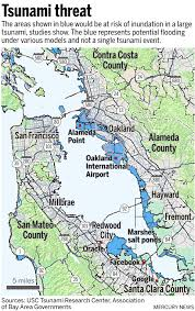 Zip Code Map San Jose by Oakland U0026 Alameda Most Vulnerable To Tsunami Within Sf Bay San