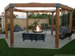 Swing Arbor Plans Porch Swing Fire Pit Pergolas Swings And Backyard