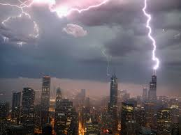 crazy photo of lightning striking the willis tower in chicago