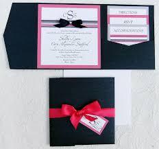 Wedding Invitation Pocket Ribbon Rhinestone Wedding Invitation Pocket Invitation Suites