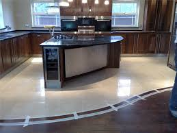Kitchen Tile Ideas Uk We Love The Transition Between The Polished Porcelain Tiles And