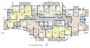 grand city pandeshwar mangalore typical 1st floor plan
