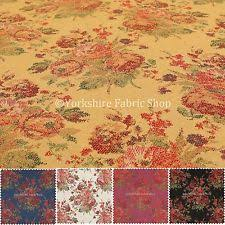 Multi Coloured Upholstery Fabric Chenille Floral Craft Fabrics Ebay