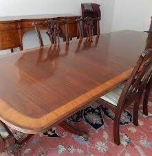 mahogany dining room table mahogany dining table and six chairs by white furniture co ebth