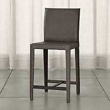 leather bar stools crate and barrel