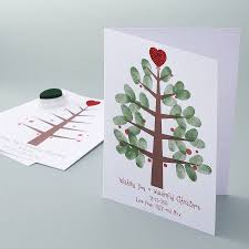 personalised thumbprint christmas tree cards thumb prints and