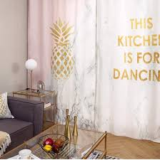 Pink And Gold Curtains White And Gold Curtains Monogrammed Pineapple