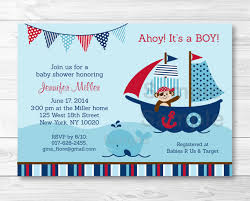 pirate whale baby shower invitation printable nauticalbabyshower