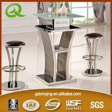 glass pub table and chairs xinqing modern bar table glass bar table cheap bar table sets buy