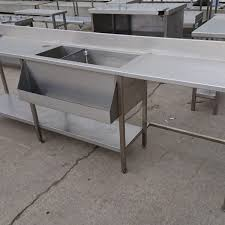 used stainless steel tables for sale used stainless steel table ice well speed runner 295cmw x 52cmd x