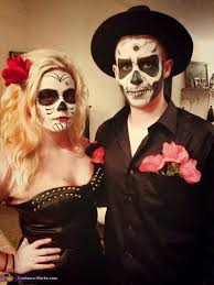 sugar skull costume sugar skull and skeleton couples costume