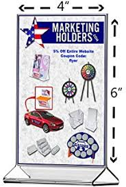 Table Tent Holders by Amazon Com Marketing Holders Sign Holder 5x7 Acrylic Table Top