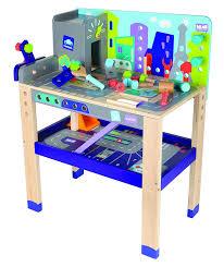 amazon com boikido wooden 2 in 1 workbench build u0026 drive playset