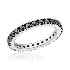 inel diamant inel eternity aur cu diamante negre cod 326 b