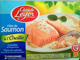 cuisiner saumon congelé filet de saumon à l oseille surgelé claude léger 400 g
