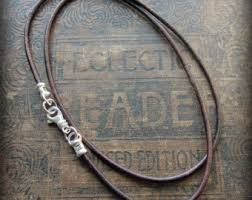 necklace cord with clasp images Leather cord necklace etsy jpg