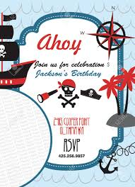 pirate party pirate party invitation card with place for photo vector
