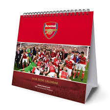 2018 easel desk calendar arsenal f c official desk easel 2018 calendar danilo
