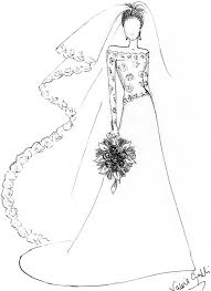 wedding dress coloring page free download