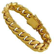 cuban gold bracelet images 10k solid yellow gold mens cuban bracelet 8 5 inches 15 mm jpg