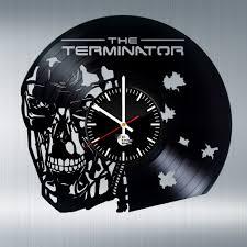 terminator arnold schwarzenegger handmade vinyl record wall clock