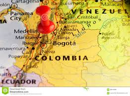 Bogota Colombia Map South America by Bogota Capital Of Colombia Pinned Map Stock Illustration Image