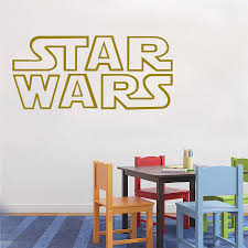 vinyl giant star wars starwars logo quotes bedroom wall stencil vinyl giant star wars starwars logo quotes bedroom wall stencil sticker art transfer poster large size 80x45cm in wall stickers from home garden on