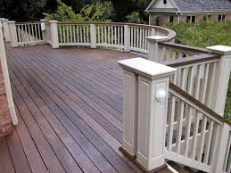 white deck railing crafts home