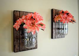 mason jar decor rustic wall decor fall decor wall planter