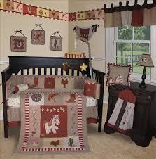 bedroom neutral cream nursery room with dark wooden furniture