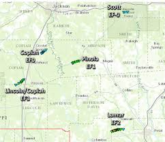 Jackson Ms Map January 21st 2016 Tornadoes