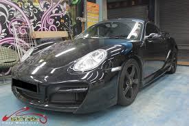 porsche cayman full car colour change spray painting with zetough