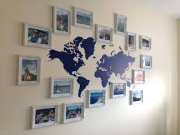 Map The World Wall Decor Travel Gallery Wall World Map Decor